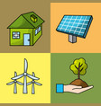 set ecological conservation with environment vector image