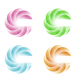 set of abstract elements for design vector image