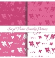 Set of Seamless Backgrounds with Hummingbird vector image vector image