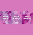 set of winter backgrounds with gradients vector image vector image
