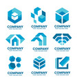 simple corporate company logo collection vector image vector image