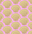 Sketch sea shell in vintage style vector image vector image