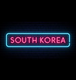 south korea neon sign bright light signboard vector image vector image