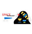 space technology - colorful flat design style web vector image vector image