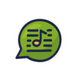 speech chat bubble musical note hand drawn vector image vector image