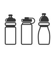 sports water bottles set on white background vector image vector image