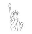 statue of liberty new york city landmark vector image vector image