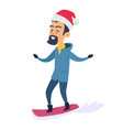 studying snowboarding father on white background vector image vector image