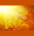 sunset blurred circle background vector image