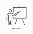 teacher line icon outline vector image