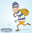 Thief trap vector image vector image
