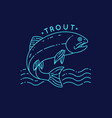 trout fish jumping out water vector image