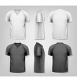 V-neck t-shirts with sample text space vector image vector image