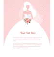 wedding invitation young woman silhouette vector image vector image