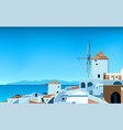 wide panorama greece landscape 02 vector image vector image
