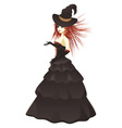 Witch in Black Dress vector image vector image