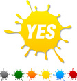 Yes blot vector image vector image