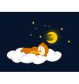 bear sleeping vector image