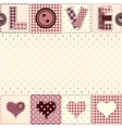 Romantic greeting card valentines card vector image