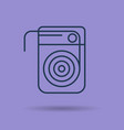 isolated linear icon of dental floss vector image