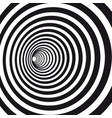 abstract black and white striped optical illusion vector image