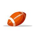 american football ball flat
