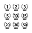 anniversary label set collection vector image