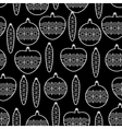Black and White Seamless Christmas Pattern vector image vector image