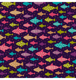 Bright hand drawn seamless background with fishes vector image vector image
