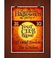 Bright orange Halloween costume party poster vector image vector image
