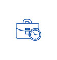 business case with time line icon concept vector image vector image