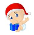 cartoon baon christmas vector image vector image