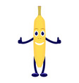 cartoon character yellow banana vector image vector image