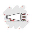 cartoon megaphone icon in comic style bullhorn vector image vector image