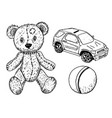 children toy for children teddy bear cute ball vector image vector image