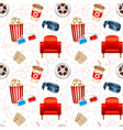Cinema seamless texture vector image vector image