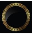 circular gold frame vector image vector image