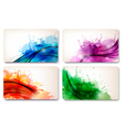 collection colorful abstract watercolor cards vector image