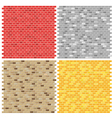 Color brick wall textures collection vector image vector image