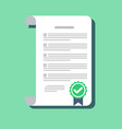 contract icon in a flat style isolated on a vector image vector image