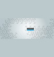 cube pattern banner design vector image vector image