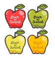 Cute cartoon apples Back to school vector image