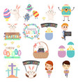 cute easter clip arts vector image