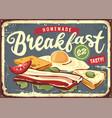 diner menu sign vector image vector image