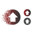disintegrating dotted halftone up arrow icon vector image vector image