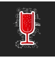 Drawing business formulas cocktail vector image