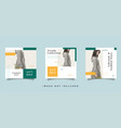 fashion social media feed post promotion design vector image vector image
