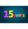 Fifteen years paper sign vector image vector image