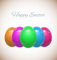 Five Easter Eggs Isolated on White Set vector image vector image