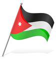 flag of Jordan vector image vector image